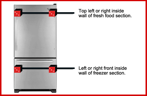 bottom freezer fridge dt