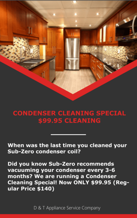 condenser cleaning coupon