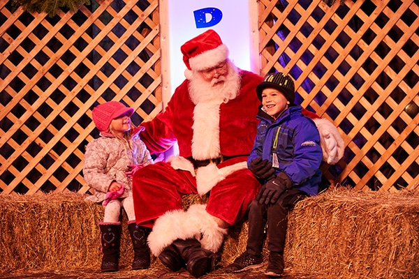 where to see Santa in Minneapolis