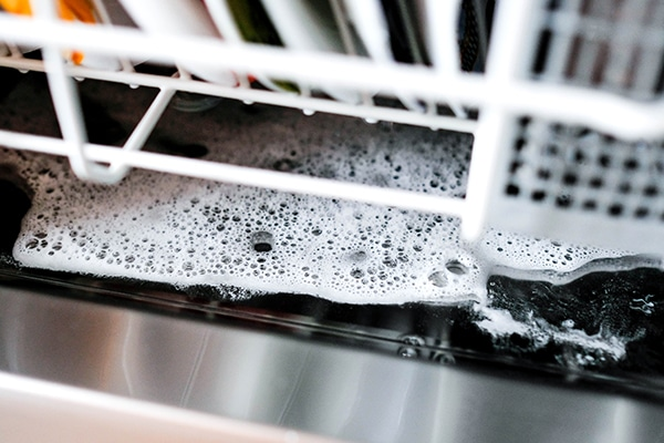 standing water in my dishwasher